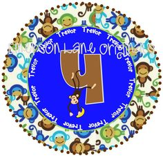 No More Monkeys Birthday Design