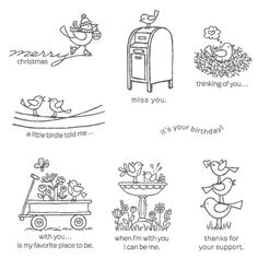 For The Birds Clear-Mount Stamp Set - Stampin' Up!   A