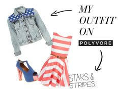 """""""Stars & Stripes"""" by chesnam ❤ liked on Polyvore"""