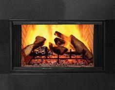Majestic Black Finish Full Framed Glass Door for SB44 #Fireplaces