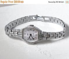 "SALE - Women's watch ""Luch"" , Soviet watch, Vintage Watch ,silver plated watch, Russian watch, NOS watch ,Mechanical watch"