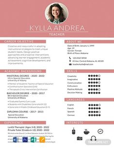 FREE Resume for Software Engineer Fresher Template - Word (DOC) | PSD | InDesign | Apple (MAC) Apple (MAC) Pages | Publisher | Illustrator | Template.net Teaching Resume Examples, Professional Resume Examples, Free Resume Examples, Basic Resume, Modern Resume, Visual Resume, Simple Resume, Resume Tips, Resume Skills