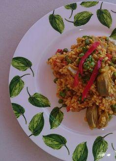 ¿Y SI NOS CUIDAMOS?: Paella de verduras con arroz integral.