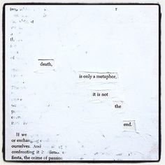 The Hereafter: Make Blackout Poetry, Blackout Poetry, Poetry
