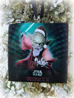 Star Wars Yoda Christmas Ornament-Handmade Glass by ThinkGeekz