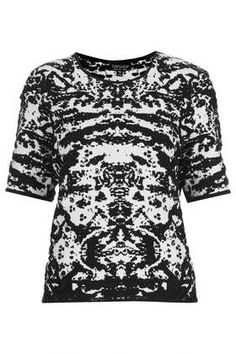 Knitted Abstract Jacquard Top - Knitwear - Clothing