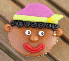 zwarte piet cupcake
