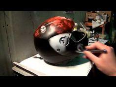 шлем аэрография (airbrush school) - YouTube