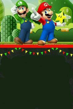 Come and Celebrate! Super Mario Bros, Super Mario Birthday, Mario Birthday Party, Super Mario Party, Elmo Party, Boy Birthday, Mario Y Luigi, Mario Kart, Nintendo Party