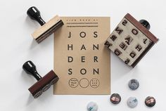 Description #card #print #stamps #pins #paper #typography