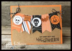 Pink Buckaroo Designs: Mr. Funny Bones Scrapbook Page and Card - SU - Halloween