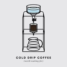 Cold Drip Coffee. #graphic #design #chemistry #worththewait #coffee