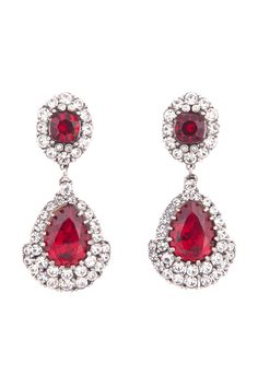 Red Crystal & Rhinestones