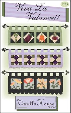 Home Dec patterns | Vanilla House Designs - Part 2  Stained glass or quilted valance