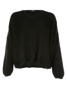 2 Pocket Knit Black - Jenterommet Pocket, Knitting, Sweaters, Black, Fashion, Moda, Tricot, Black People, Fashion Styles