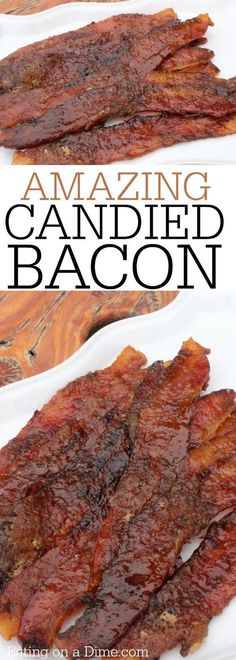 You will love this candied bacon recipe. Easy caramelized bacon recipe is a crowd pleaser. Candy bacon is the best recipe. Learn how to make candied bacon Easy Bacon Recipes, Pork Recipes, Appetizer Recipes, Cooking Recipes, Appetizers, Candied Bacon Recipe, Caramelized Bacon, Good Food, Yummy Food