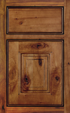 Madison Square Inset, Array Cabinet Door Style With A Hazelnut Charcoal  Finish