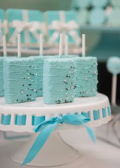 Treats from Breakfast at Tiffany's Inspired Birthday Party at Kara's Party Ideas. See more at karaspartyideas.com!