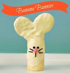 Banana bunnies ~ made with a banana Nutter Butter Cookies