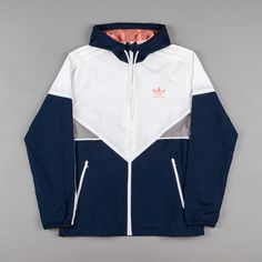 Adidas Women Shoes - Adidas Premiere Windbreaker Jacket - Navy / White / Sun Glow - We reveal the news in sneakers for spring summer 2017 Mode Outfits, Winter Outfits, Summer Outfits, Casual Outfits, Summer Shoes, Spring Shoes, Casual Shoes, Casual Dresses, Yeezy Outfit