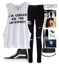 """""""HACKED BY HEATHER"""" by qveenkyndall16 ❤ liked on Polyvore featuring Miss Selfridge, INDIE HAIR, Trish McEvoy, Vans, Bling Jewelry and Wet Seal"""