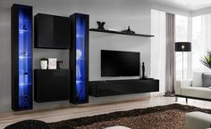 Black wall units for living room wall unit living room perfect black wall units for living . black wall units for living room modern living room wall unit Living Room Wall Units, Modern Wall Units, Living Room Modern, Modern Room, Living Room Sets Furniture, Modern Furniture Living Room, Wall Unit, Wall Cabinets Living Room, Modern Entertainment Center