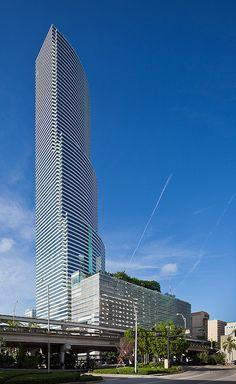 I.M. Pei-designed Bank of America Tower, Downtown (Miami, Florida)    Miami, Florida