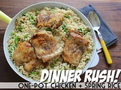 Dinner Rush! One-Pot Chicken + Spring Rice | Devour The Blog: Cooking Channel's Recipe and Food Blog
