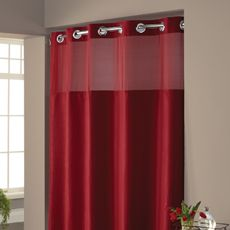 Hookless® Waffle Red 71' W x 74' L Fabric Shower Curtain and Liner Set - Bed Bath & Beyond
