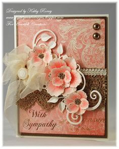 Joyfully Made Designs by Kathy Roney using Heartfelt Creations' Blazing Poppy Collection of stamps, dies and designer papers.