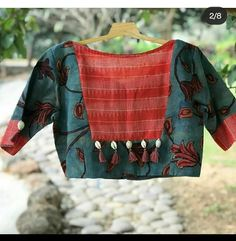 Patch Work Blouse Designs, Best Blouse Designs, Blouse Neck Designs, Cotton Saree Blouse Designs, Kurta Designs, Sari Blouse, Blouse Designs Catalogue, Sleeves Designs For Dresses, Stylish Blouse Design