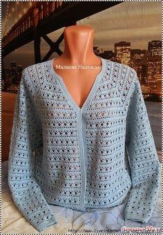 Openwork Crochet Jacket Free Pattern 0 Pull Crochet, Crochet Lace Edging, Easy Crochet, Crochet Stitches, Crochet Patterns, Diy Crochet Cardigan, Crochet Coat, Crochet Jacket, Crochet Clothes
