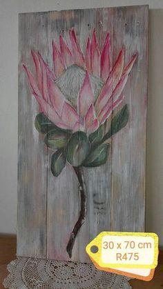Flower Painting, King Art, Floral Art, Protea Art, Painting Art Projects, Painting Projects, Art Pictures, Diy Canvas Art, Floral Watercolor