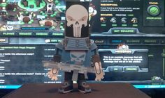 paper toy in skull man1