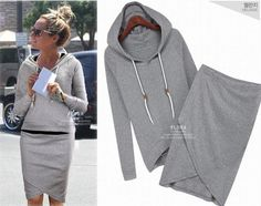 2013 Fashion Autumn Coat For Women Long Sleeve Outwear Casual Dresses Ladies Clothes Hoodies Clothing Women WC1014 $29.89  (LOVE THIS!)  Oh my word this looks comfy. Love the skirt