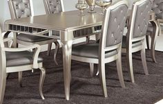 Sofia Vergara Paris Silver 5 Pc Dining Room Family Room