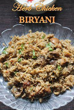 YUMMY TUMMY: Easy Herb Chicken Biryani Recipe - Pressure Cooker Biryani Recipes