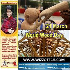 World Wood Day World Wood Day (WWD) is a cultural event celebrated every year on March 21 to highlight wood as an eco-friendly and renewable biomaterial. World Wood Day celebrations aim to raise awareness and understanding of the key role wood plays in a sustainable world through biodiversity and forest conservation. This unique celebration will remind people of the importance and true value of wood and its responsible use. #youthicon #motivationalspeaker #inspirationalspeaker #mentor…