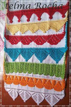 Easiest Crochet Frills Border Ever! Crochet Borders, Filet Crochet, Easy Crochet, Crochet Trim, Lace Doilies, Crochet Doilies, Crochet Flowers, Crochet Pillow Cases, Rustic Table Runners