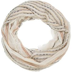 maurices Infinity Scarf With Metallic Stitching And Sequins ($18) ❤ liked on Polyvore featuring accessories, scarves, off white combo, infinity loop scarves, infinity scarf shawl, infinity circle scarf, round scarf and circle scarves