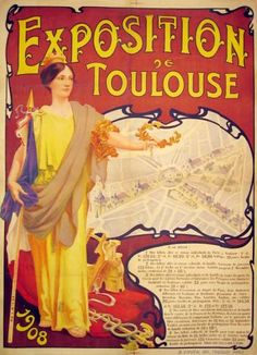 """French Posters """"Expo De Toulouse"""" - Southwest Gallery: Not Just Southwest Art."""