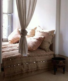 Perfection: Moroccan wedding blanket and pillows
