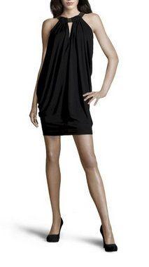 Isabella Crepe Dress in Black & Gold