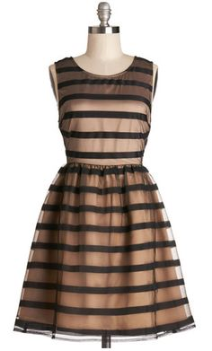 Striped soirée dress