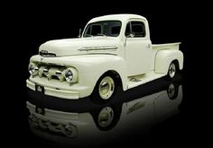 1951 Ford White F1 Pick Up Truck.