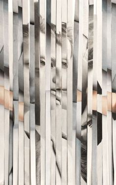 collage in strips. Distortion Photography, Mixed Media Photography, Portrait Photography, Dancer Photography, Body Photography, Photomontage, Dossier Photo, Arte Yin Yang, Montage Photo
