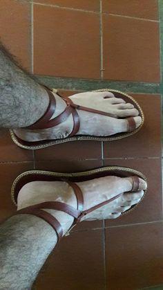 Man in sandals with tattoo Gladiator Sandals For Men, Male Sandals, Mens Slide Sandals, Boho Sandals, Stylish Sandals, Low Heel Sandals, Leather Sandals, Shoes Sandals, Roman Sandals