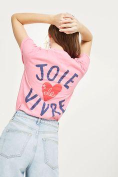 'Love Joie De Vivre' Slogan T-Shirt - T-Shirts - Clothing - Topshop Europe