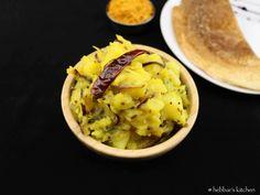 potato curry recipe for masala dosa |aloo bhaji recipe for masala dosa with step by step photo recipe.aloo bhaji recipe can be served with roti and breads