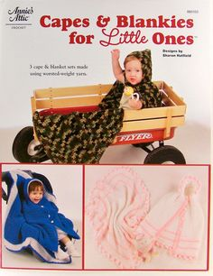 Crochet CAPES and BLANKIES for LITTLE ONES Baby Blankets Annies Attic 885103